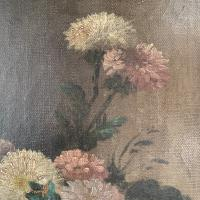 Antique Still Life Oil Painting of Vase of Flowers (6 of 10)
