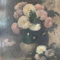 Antique Still Life Oil Painting of Vase of Flowers (5 of 10)