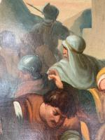 Antique French Gothic Religious Oil Painting Study of One of the Stations of the Cross (6 of 10)