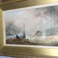 Antique Victorian Maritime Watercolour Painting by Ts Robins Rws Dated 1868 (2 of 10)