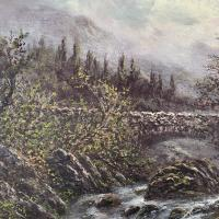 Antique Victorian River Landscape Oil Painting Signed B Stanley (6 of 10)