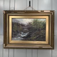 Antique Victorian River Landscape Oil Painting Signed B Stanley (2 of 10)