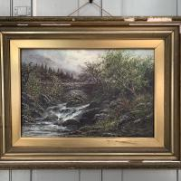 Antique Victorian River Landscape Oil Painting Signed B Stanley (3 of 10)