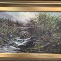 Antique Victorian River Landscape Oil Painting Signed B Stanley (4 of 10)