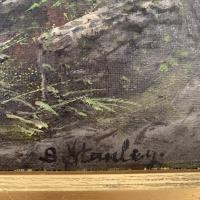 Antique Victorian River Landscape Oil Painting Signed B Stanley (7 of 10)