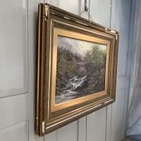 Antique Victorian River Landscape Oil Painting Signed B Stanley (8 of 10)