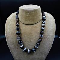 Antique Victorian Banded Bullseye Agate Beaded Necklace (2 of 8)