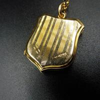 Antique Shield Striped 9ct Yellow Gold Photo Locket & Chain Necklace (8 of 9)