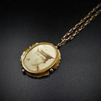 Antique 9ct 9K Yellow Gold Oval Photo Locket & Fancy Chain Necklace (7 of 9)
