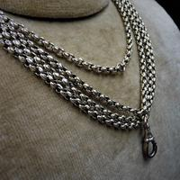 Antique Victorian 9ct 9K Gold Heavy Belcher Guard Muff Chain Necklace (7 of 10)